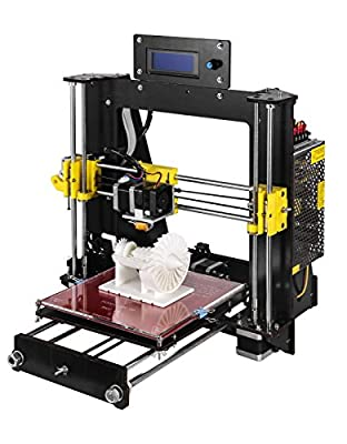 Win-Tinten New Desktop 3D Printer, DIY 3D Printer Kits, High Accuracy Self-assembly, DIY Personal Portability 3D-Printers support CD Card included 1x1.75mm ABS/PLA Filament