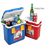 AADYA 7 Liter Heat, hot and Cold Mini Car Cooler Food Fruit Can Soft Drink Storage Preserve Box. Keeps food hot and cold. Plastic Ice Box.