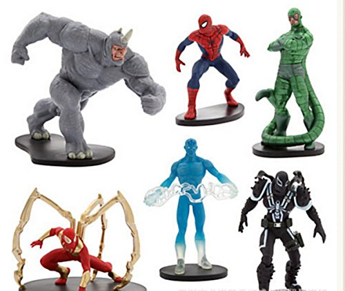 Amazing Spider Man Series Action Figures Toys Superhero Venom Rhino Spiderman Figures SuperHero toy for boy 6pcs/set