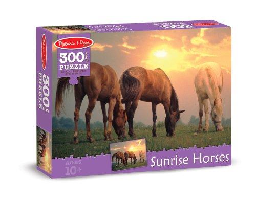 Melissa & Doug Sunset Horses Cardboard Jigsaw Puzzle, 300-Piece
