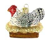 Old World Christmas Hen On Nest Ornament
