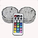 Prompter® 4x LED Submersible Party Lights Waterproof...