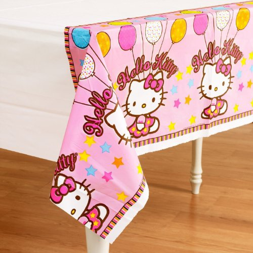 American Greetings Hello Kitty Plastic Table Cover, Balloon Dreams, 54 x 102""