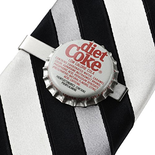 Diet Coke Bottle Cap Tie Clip, Tie Bar, Men's Accessories, Formal Wear Accessories, Anniversary Gifts, Graduation Present, Gift Box Included