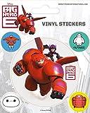 1art1 83547 Baymax, Riesiges Robowabohu - Baymax, 5 Vinyl Sticker Poster-Sticker Tattoo Aufkleber 12 x 10 cm