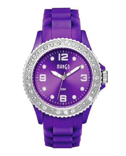 Mango Tutti Frutti Purple Ladies Silicon Watch