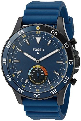 Fossil-Q-Crewmaster-Gen-2-Hybrid-Blue-Silicone-Smartwatch