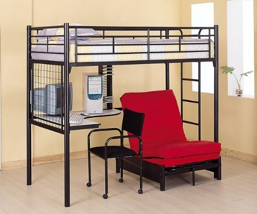 Bunk Bed with Futon/Desk/Chair