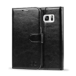Galaxy S6 Edge Plus Case OCASE Leather Wallet Flip Case For SAMSUNG Galaxy S6 Edge Plus Devices -Black