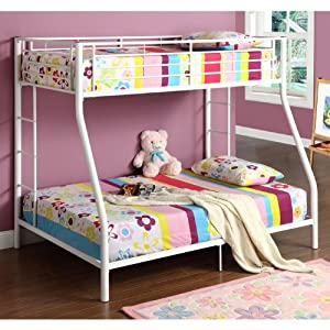 Walker Edison Twin-Over-Full Bunk Bed, Black from Walker Edison