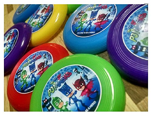 12 PJ MASKS mini frisbees birthday party favors, treat bag loot, prize goodie