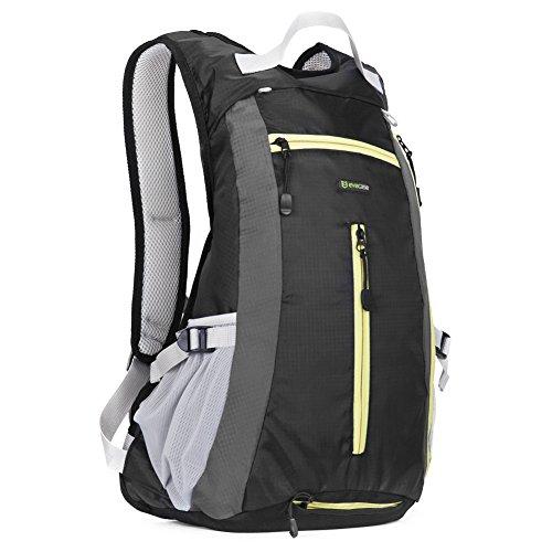 Zaino per Trekking, Evecase 15L Leggero Borsa da Viaggio per Attività all'aperto/Escursione/Jogging/Campeggio/Ciclismo - Nero
