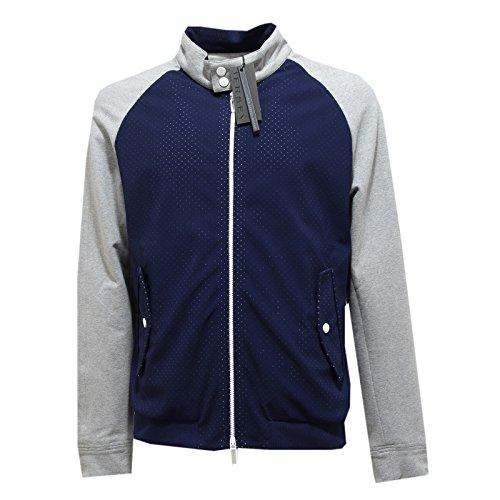 4088M giubbotto uomo blu PAOLO PECORA jersey cotone bomber men coats jackets [XXL]