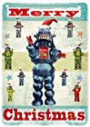 Pack of 5 Robot Christmas Greeting Cards by Max Hernn