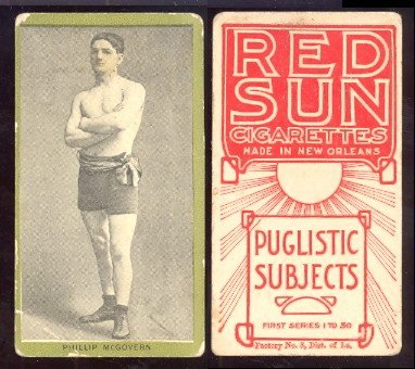 1910 T226 Red Sun regular (Boxing) Card# 37 phillip McGovern VG Condition