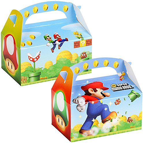 Super Mario Bros. Empty Favor Boxes (4) Party Supplies