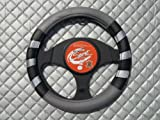 Vauxhall Meriva / Zafira Car Steering Wheel Cover SWP 7 M -Black Grey Silver 14.5 inch medium