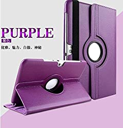 Purple - 360°Rotating PU Leather Stand Case For Samsung Galaxy Tab 2 10.1 P5100
