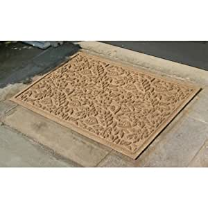Bungalow flooring waterguard fall leaves 2 ft x 3 ft for Door mats amazon