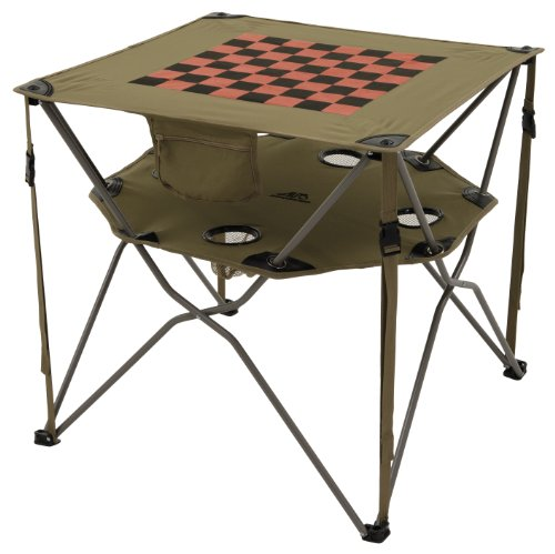 ALPS Mountaineering 8369914 Eclipse Camp Table with Built-In Beverage Holders (Khaki)