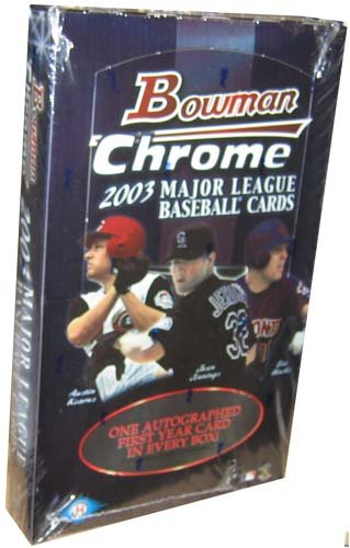 2003 Bowman Chrome Baseball Cards Hobby Box