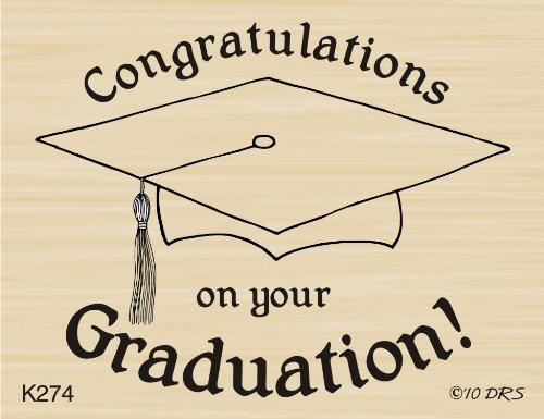 Congratulations Graduation Rubber Stamp By DRS Designs