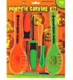 Halloween Decoration Tools ~ 19 Pc Halloween Family Size Jack O Lantern Pumpkin Carving Kit with stencils