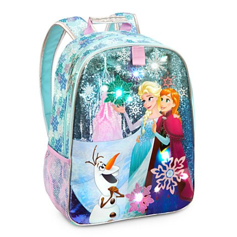 Disney Store Frozen Light-up Girls Backpack 15-inch Regular