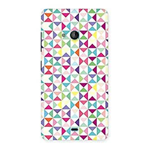 AJAY ENTERPRISES Extant Colorful Vs Trangel Back Case Cover for Lumia 540