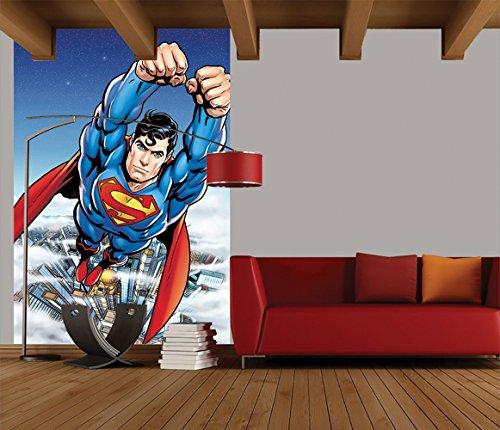 1-Wall-Papier-peint-facile--poser-Motif-Portrait-de-Comic-Superman-158-X-232-m