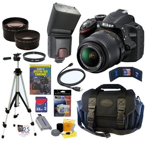 get nikon d3200 242 mp cmos digital slr camera black with 18 nikon d3200 242 mp cmos digital slr with 18 55mm f35 56 af s dx vr nikkor zoom lens black get rabate 500x500
