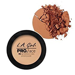 L A Girl HD Pro Face Pressed Powder, Chestnut, 7g
