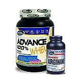 Advance Arginine 240 Capsules& ADVANCE 100% WHEY 25gm Protein Per 33gm 1kg Vanilla (Combo Offer)