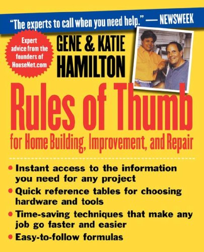 Construction rules of thumb