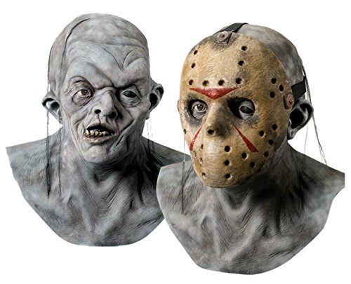 Jason Voorhees Hockey Scary Horror Latex Adult Halloween Costume Mask
