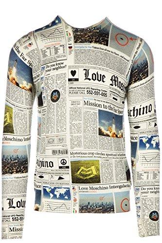 Love Moschino maglione maglia uomo girocollo grigio EU M (UK 38) M S 5U3 01 X 1058 00