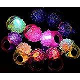 WOVTE® [Party Stars] Flashing LED Bumpy Jelly Ring Light-Up Toys (20 Pcs)