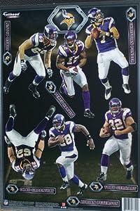 Minnesota Vikings Mini FATHEAD Team Set of 12 Official NFL Vinyl Wall Graphics by Fathead