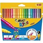 Bic Kids Visa Etui carton de 18 Feutr...