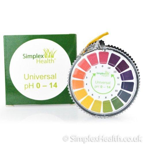 Simplex Health pH-Indikator Lackmus-Test Papier-Streifen Roll, 0-14 Für Wasser Urin und Speichel - 5 Meter