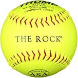Trump® MP-ROCK-ASA-11-Y The Rock® Series 11 inch Yellow Composite Leather ASA Softball (Sold in Dozens)