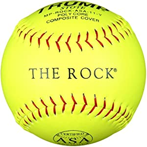 Trump MP-The Rock-ASA-11-Y The Rock Yellow Composite Leather ASA Softball