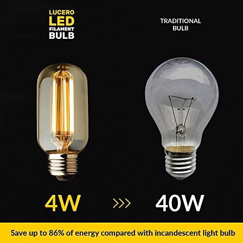 T10 E26 E27 4w Led Vintage Antique Filament Light Bulb: Lucero LED Filament Vintage Edison Tubular Light Bulb T45