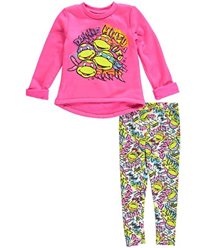 "TMNT Little Girls' Toddler ""Nicknames"" 2-Piece Outfit"
