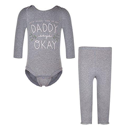 Baby Girls Pajamas Sets Printing Jumpsuit + Pant 2 PCS Sleepwear Suit (6M)