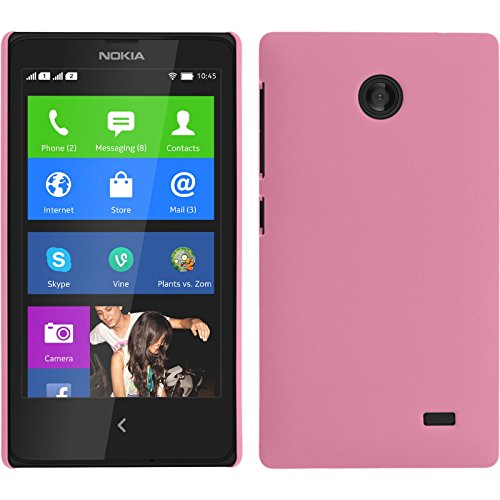 PhoneNatic Nokia X / X+ Hülle Silikon blau X-Style Tasche X / X+ Cover + Schutzfolien