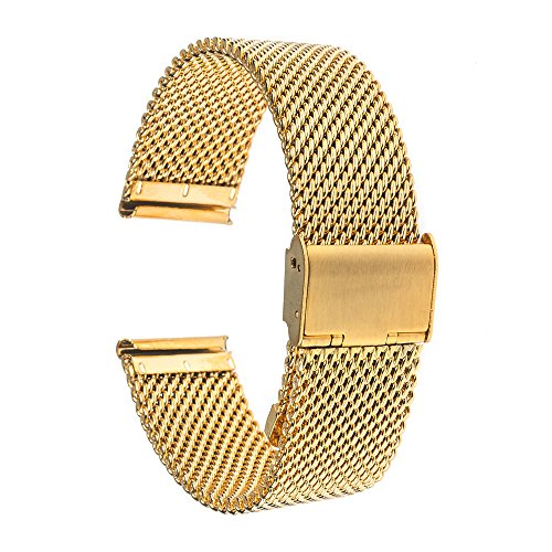 TRUMiRR 22 millimetri Cinturino Milanese Stainless Steel Band per Samsung Gear 2 R380 R381 Neo diretta R382, Moto 360 2 46 millimetri, di ghiaia Tempo / acciaio, Asus ZenWatch 1 2 uomini, LG G Watch Urbane W150