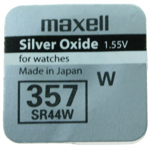 1 X Pile Maxell 357 Batterie Originale SR0044W 1,55 V Pile Oxyde D'argent Maxell Boutons