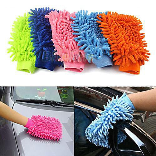 Microfiber Car Wash Washing Cleaning Glove Soft Hot Duster Cloth