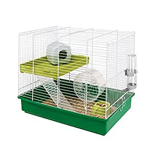 ferplast duo cage pour hamster avec accessoires barreaux. Black Bedroom Furniture Sets. Home Design Ideas